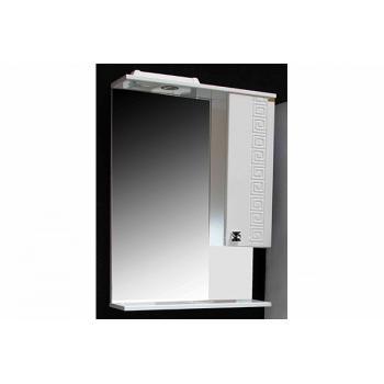 Шкаф-зеркало 830х510х175  Версаче 500 №01 белый/патина золото